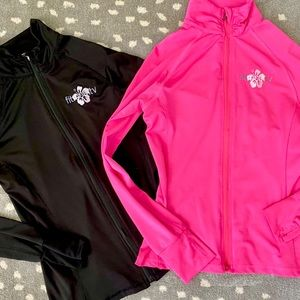 New! 2 Pack 🖤💗 Black AND Pink Fitness Jackets